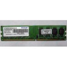 Модуль оперативной памяти 4Gb DDR2 Patriot PSD24G8002 pc-6400 (800MHz)  (Самара)